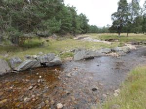 The Allt Lorgy before river improvements