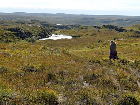 Racheal Thomas shows me the Fairy Lochs, near Gairloch in Wester Ross.
