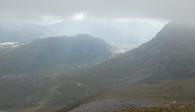 Sun in the Glen: View from Beinn Eighe