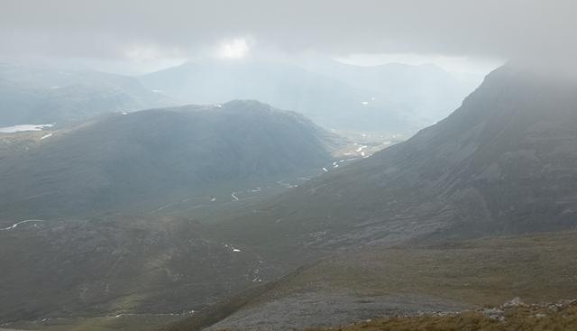 Sun in the Glen: View from Beinn Eighe