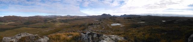 View from a hill in the Fairy Lochs (Sìthean Mòr' hil)
