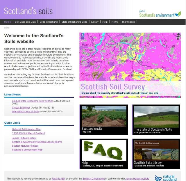 Scotland's Soils website