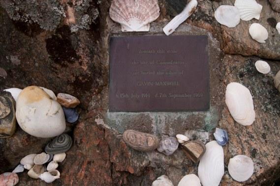 Stone marking Gavin Maxwell's ashes