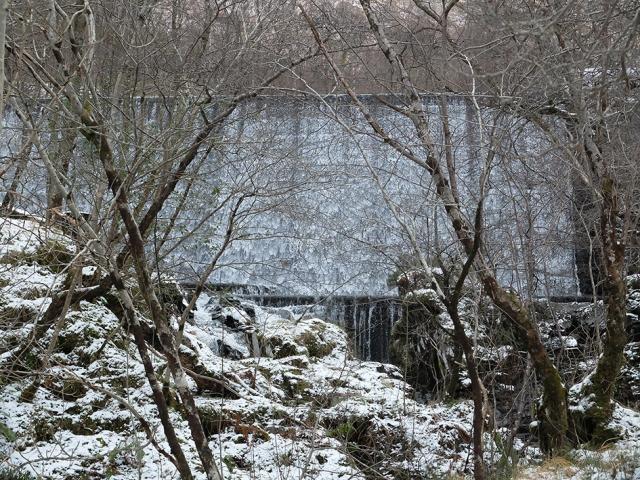 A man made waterfall