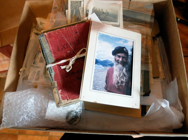 Archive box of the Davie Glen collection at  the SMHC