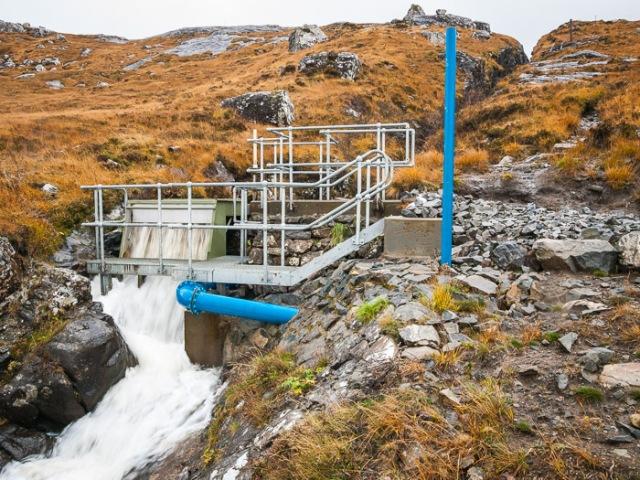 Hydro dam, Coire Dubh,  Isle of Rum.