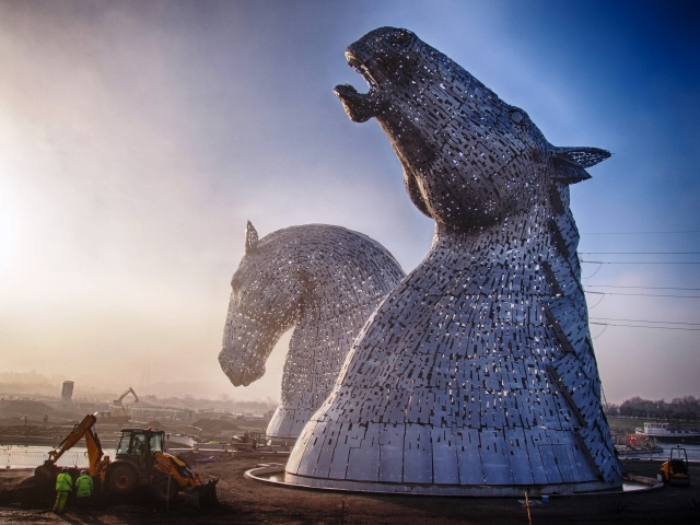 The Kelpies, a highlight of the John Muir Festival