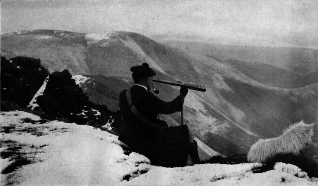 Seton Gordon looking into the Lairig Ghru from Braeriach