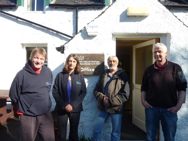 Kenny Nelson (SHN), Liz, Richard and Eoghain Maclean (SNH)