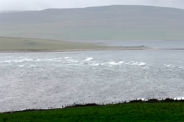 Tidal rapids at Eynhallow Sound, Orkney,