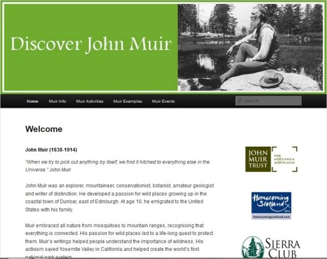 discoverjohnmuir.com website image