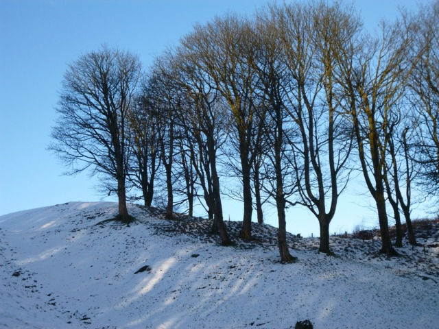 The snowy slopes of Barr Hill