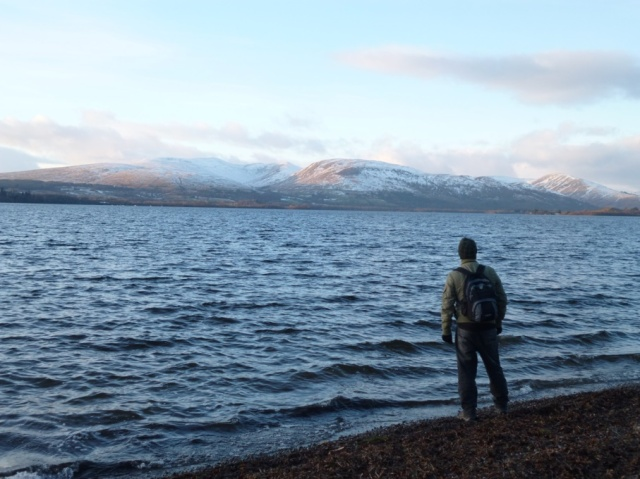 The lovely shore and view at Balloch