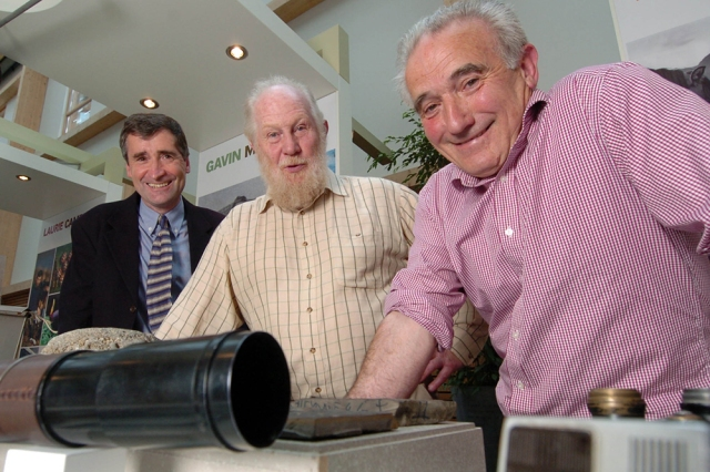 Laurie Campbell, Dick Balharry and Roy Dennis at the Highland Naturalist launch, Great Glen House, Inverness, September 2007