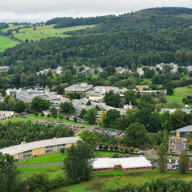 Stirling University viewed from the Wallace Monument, © Lorne Gill/SNH