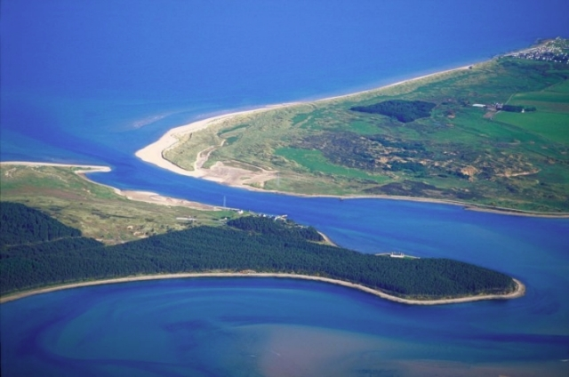 Aerial view of Loch Fleet NNR, © P&A Macdonald/SNH