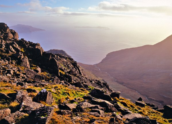 Rocky landscape near the summit of Askival in the Rum Cuillin, Isle of Rum NNR, © John MacPherson/SNH