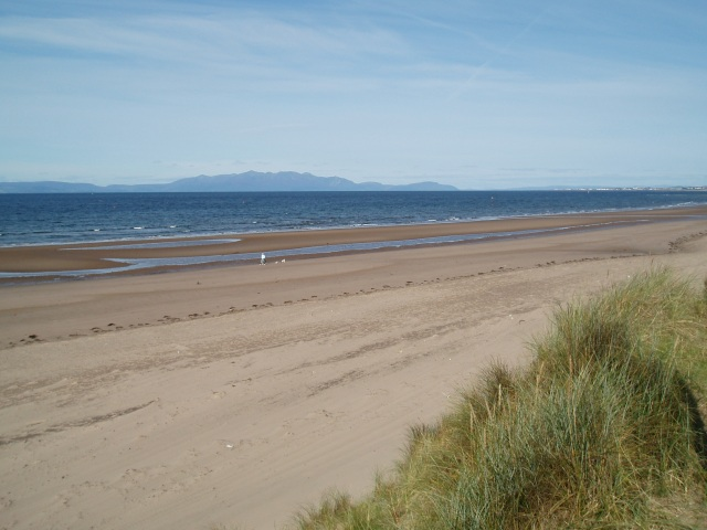 The Ayrshire Coastal Path reveals some wonderful sandy beaches like this one at Barassie