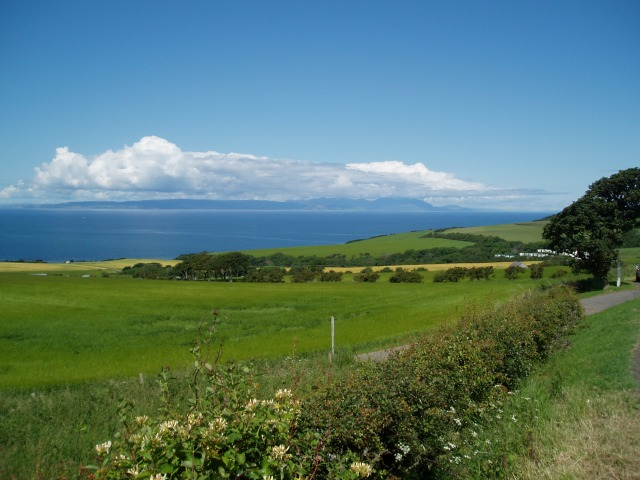 Arran from above Croy Bay