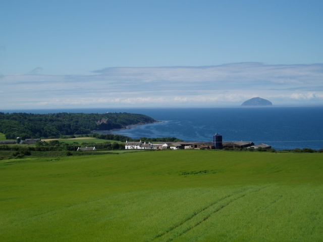 A view out to Ailsa Craig