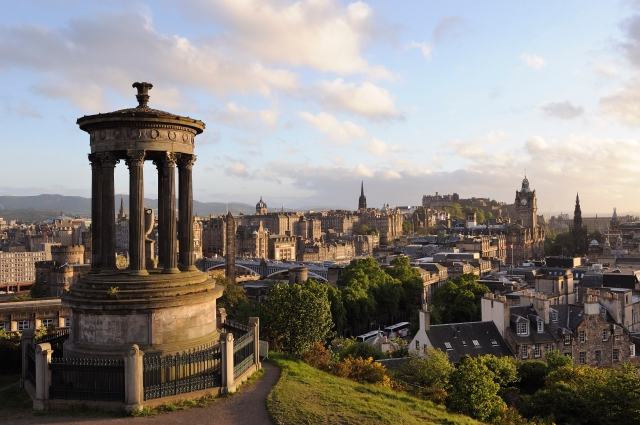 View over Princes Street and Edinburgh Castle from Calton Hill. ©Lorne Gill/SNH
