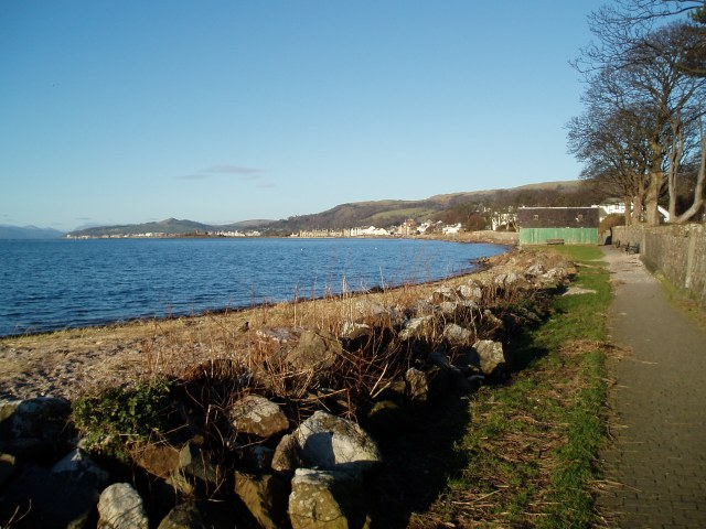 Shore path at Fairlie, a good surface and a grand view out to sea