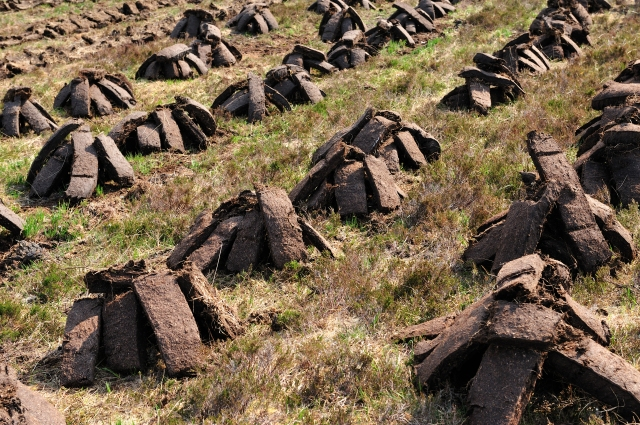 Stacked peat, North Uist
