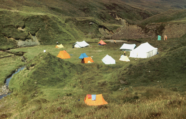 SHS Rum 1976 campsite, by Salisbury's Dam. Photo: Nick Smith.