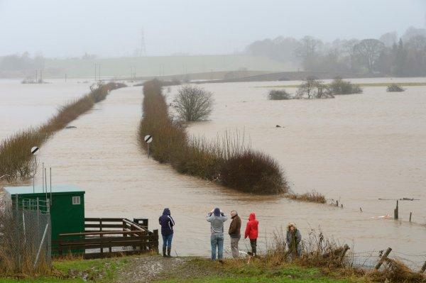 Flooding on the River Isla near Coupar Angus, January 2016, Image credit: Lorne Gill/SNH