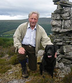 Duncan poses with Sukey on a Highland walk in 2006: Photo: J. Blaser