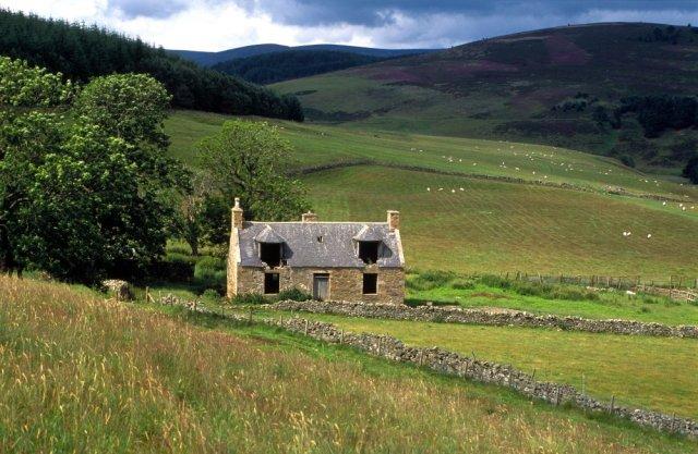Derelict house, Correen Hills, Aberdeenshire. ©George Logan/SNH