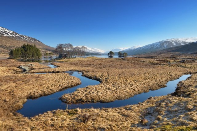 Blanket bog near Loch Ossian Youth Hostel. ©Lorne Gill/SNH