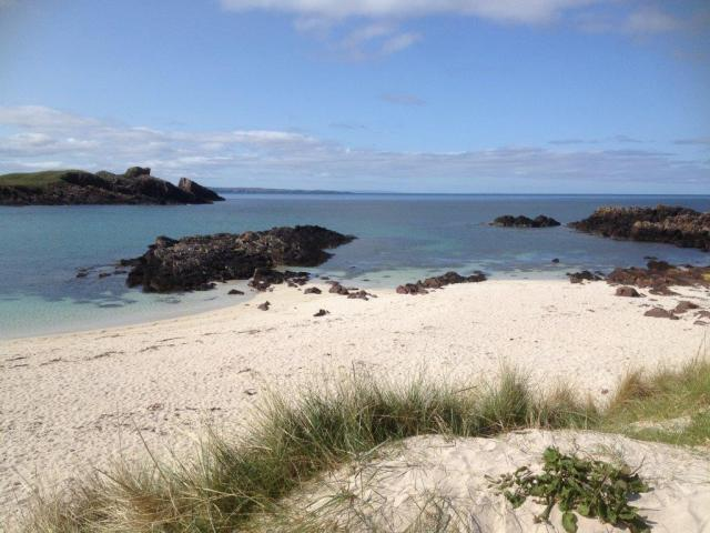 Clachtoll Beach – but no time for a dip.