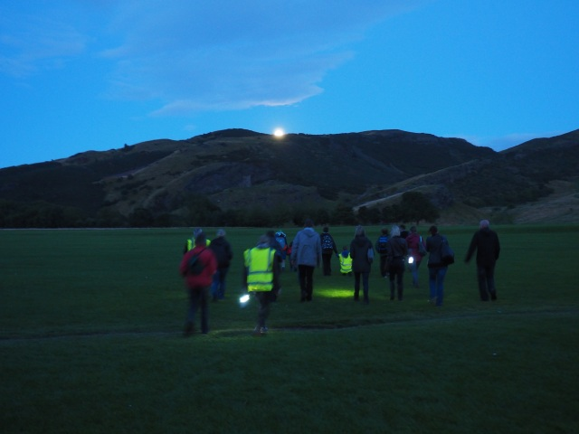 A group on a bat walk. ©Historic Environment Scotland