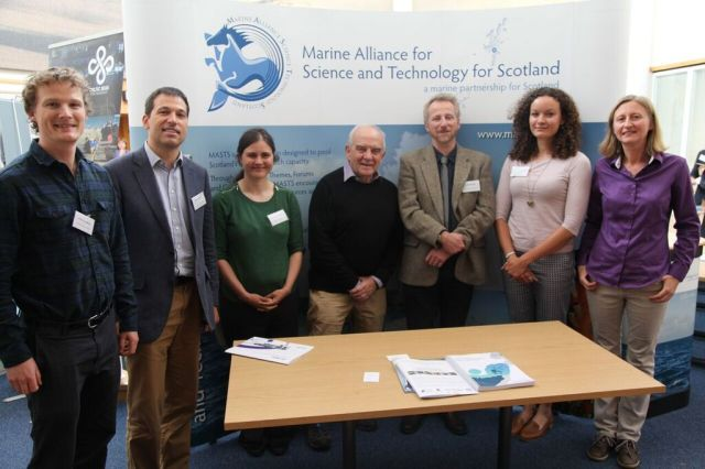 The conference organisers with the two keynote speakers (third and fourth from right): Jeff Ardron and Charles Ehler. © Sea Scotland