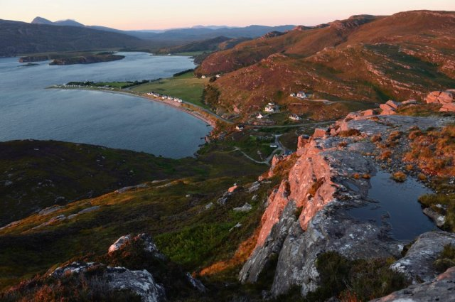 Sunset over Loch Kanaird from the summit of Meall Mor, Ullapool. ©Lorme Gill/SNH