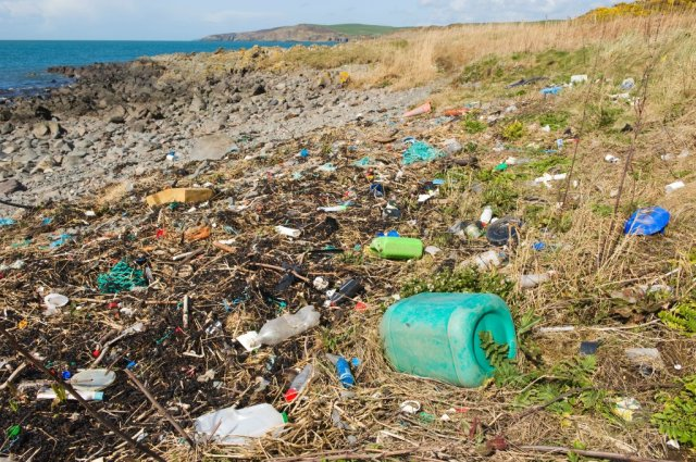 Plastic rubbish washed up on a beach in the Mull of Galloway. ©Lorne Gill/SNH