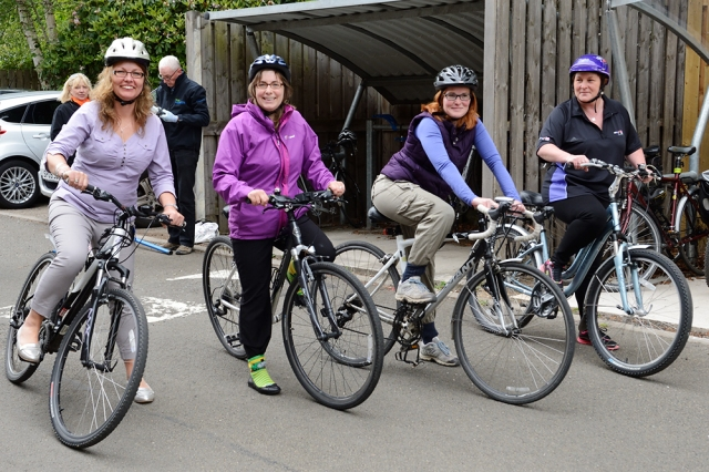 Battleby staff took up the cycle to work challenge too. ©Lorne Gill/SNH