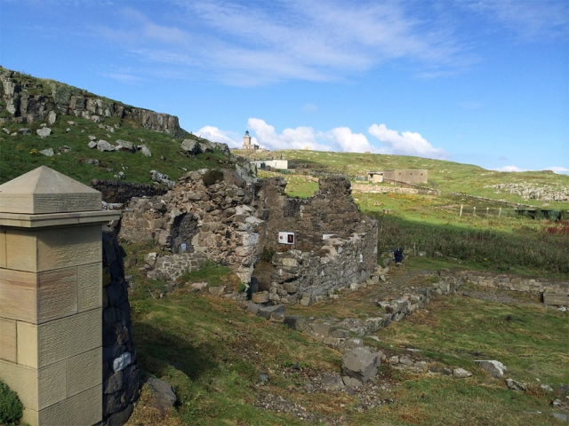 The ruins of the Isle of May Priory.
