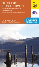 OS Explorer map for Pitlochry & Loch Tummel area. © Ordnance Survey