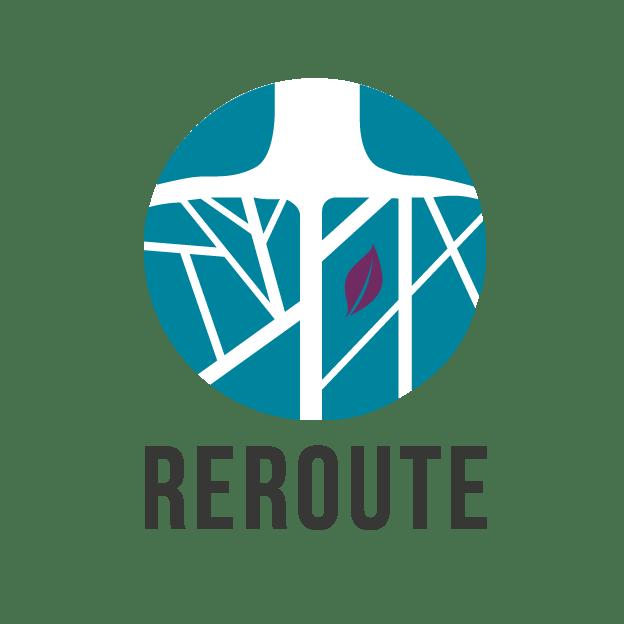 Reroute logo.