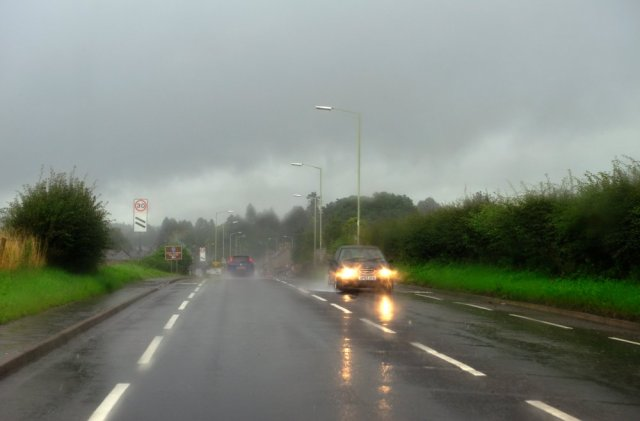 A wet day on ther roads. ©Lorne Gill/SNH