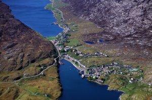 Aerial view of Tarbert, Harris, Western Isles. ©P&A Macdonald/SNH