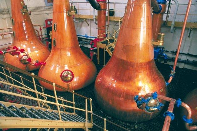Whisky stills at Lagavulin distillery, Isle of Islay. ©Lorne Gill/SNH