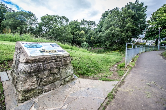 A view of the information board and its surroundings. © Iain Lawless