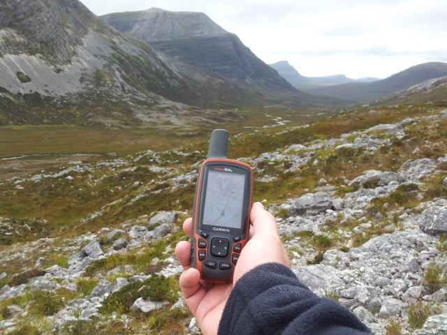 With so much ground to cover, a handheld GPS is a useful tool. © Stuart MacKenzie