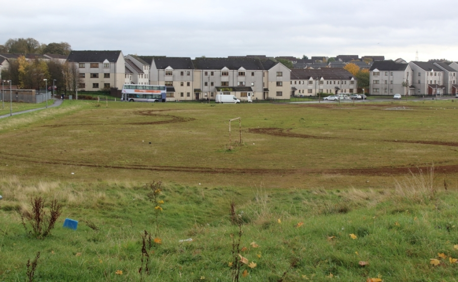 Former football pitch, Easterhouse.