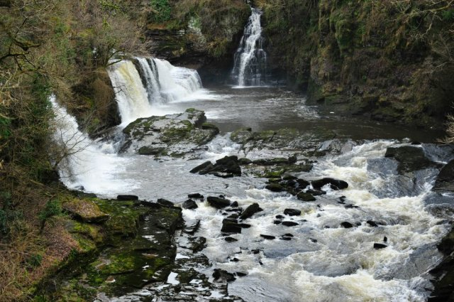 Waterfalls at the Falls of Clyde, near New Lanark. ©Lorne Gill/SNH