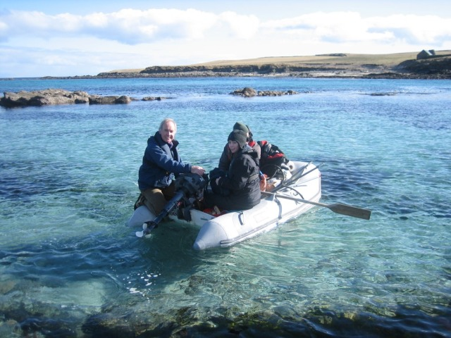 Christine off tohelp prepare for the arrival of the new season's wardens at Noss NNR. Shetland admin is not all desk-based!
