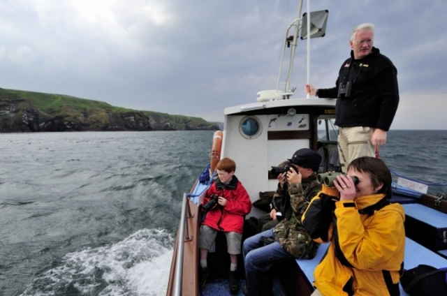 Wildlife watching from a boat near Stonehaven. ©Lorne Gill/SNH